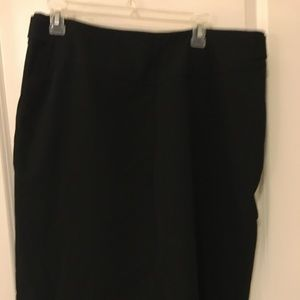 Worthington black classic pencil skirt lined size